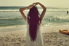 I want my hair to be this long... one day!