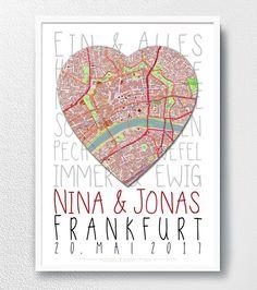Digitaldruck - Hochzeitsgeschenk - Lieblingsmensch - Liebe - ein Designerstück von GALERIE-IM-WANDEL bei DaWanda