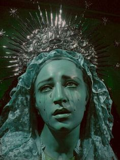 """turquoise-tiddies: """"Mother of a god Cries endless tears of regret Their sins kill saviors """" Aesthetic Photo, Aesthetic Art, Aesthetic Pictures, Crying Aesthetic, Sculpture Art, Sculptures, Dark Green Aesthetic, Slytherin Aesthetic, Photocollage"""