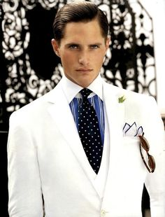 Ralph Lauren - Nothing but excellence. #White #Suit #Tuxedo #Wedding. @Celebrity Style Weddings