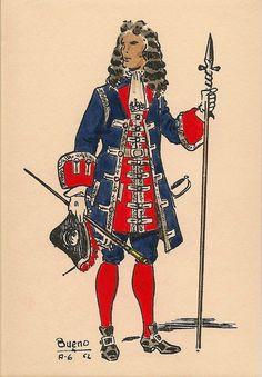 Reales Guardias de Infantería Española 1703 Oficial