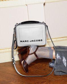 "18e52619eba0 Marc Jacobs on Instagram: ""THE BOX BAG MARC JACOBS in Swedish Grey 🌫 Tap  to shop. #MJBoxBag #MJSS19"". Box BagMichael Kors Jet SetMarc ..."