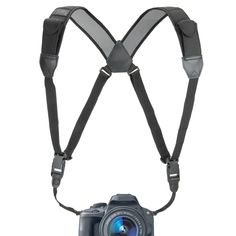 DSLR Chest Harness Strap System by USA GEAR with Comfort Padding and Quick Release System - Works With Canon EOS 5D Mark III , 70D , 6D & Many Other DSLR , Mirrorless , Compact or Instant Cameras!. USA Gear Harness Strap is a universally compatible and work with Canon EOS Rebel T6i , T5i , T5 , T3i / 7D Mark II , M3 , M10 , SL1 and More Cameras. Combines comfort with durability to offer even weight distribution for all DSLR and Micro Four Thirds Cameras. Quick-release buckles make setting…