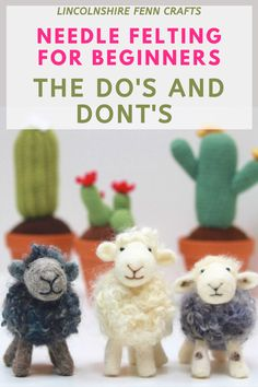 Avoid common needle felting mistakes before you even start with these easy hints tips and mini tutorials especially designed for needle felting beginners.