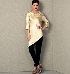 Vogue 1415 Tunique et pantalon,facile, Créateur Tom and Linda Platt, tailles 36 à 44 et 44 à 52