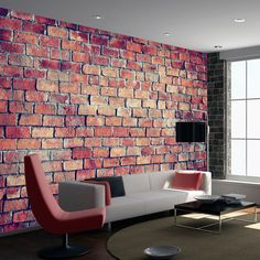 "Availability: on orderResistant, water-rejecting and scratch-proof fleece wallpaper ""Brick - puzzle"". Wallpaper ""Brick - puzzle"" with the inspiring motive will be an effective eye-catch for each interior. 3d Wallpaper Mural, Brick Wallpaper, Washi Tape Wall, Vinyl Photo Backdrops, Man Cave Wall Art, Brick Loft, Red Bricks, Home Decor Inspiration, Puzzles"