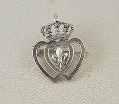 Vintage Double Heart With Crown Luckenbooth Brooch on Etsy, $12.00