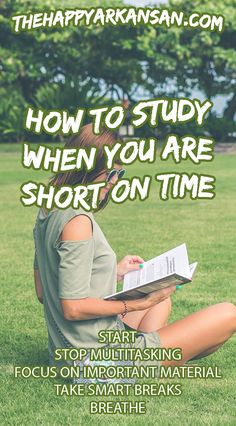 Studying can be challenging when you don't have a ton of time to do it. Check out my resource for tips and tricks that will help you take advantage of the small number of hours or day you have to study. College Majors, College Hacks, First Year Of College, College Life, New Students, College Students, Report Writing, Study Tips, Study Hacks