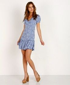 2c46da6282 Spell   The Gypsy Celestial Play Dress Chambray 181113A41 - Free Shipping  at Largo Drive Venezuelan
