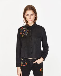 ZARA - COLLECTION SS/17 - FLORAL EMBROIDERY SHIRT