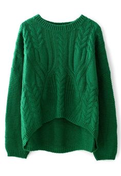 Cable Knit Pullover Sweater - Sweaters - Tops - Retro, Indie and Unique Fashion Knit Fashion, Look Fashion, Unique Fashion, Winter Fashion, Womens Fashion, Moda Crochet, Knit Crochet, Street Mode, Mode Style