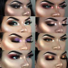 50 trendy fashion show makeup make up eyeshadows Simple Eye Makeup, Blue Eye Makeup, Eye Makeup Tips, Glitter Makeup, Makeup Goals, Beauty Makeup, Kylie Makeup, Prom Makeup, Contour Makeup