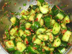 Korean cucumber kimchee with Hawaiian sea salt recipe.