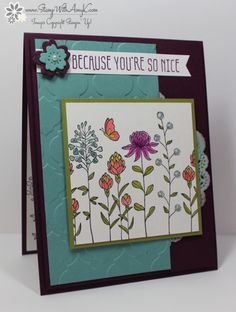 Stampin' Up! Flowering Fields With Botanicals For You