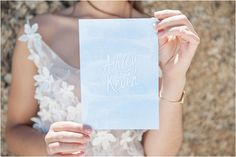 #blue and #peach #sea #wedding #inspiration #stationary Blou & Perskekleur See Inspirasie | Mooi Troues