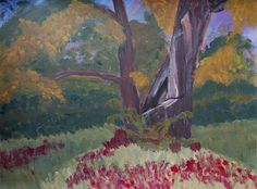 Dying Tree Acrylic Landscape Plein Air Original Painting by Brandi Miller Art, $25.00