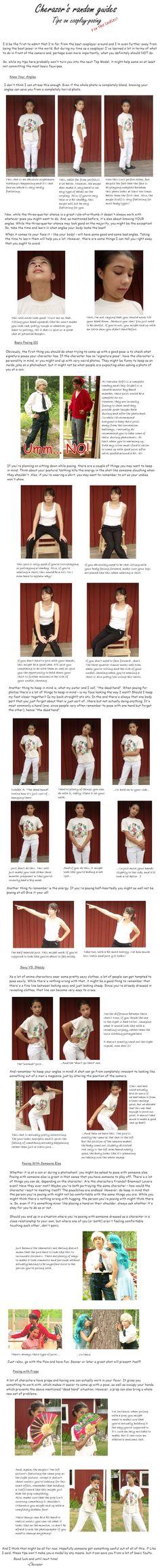 Guide: Posing in Cosplay by *Cherazor on deviantART