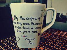 Message On Mug - #Memories - DIY Personalized Mugs