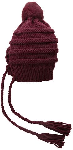 BCBGMAXAZRIA Women's Cable Slouch Hat with Tassels
