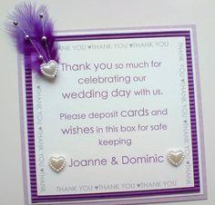 card idea for wedding post box/wishing well