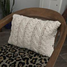 Chunky Cable Knit almohada cubierta  Lumbar pequeño