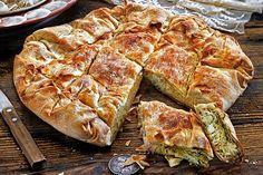 Ηπειρώτικη κρεατόπιτα Greek Pastries, The Kitchen Food Network, Filo Pastry, Greek Beauty, Food Categories, Spanakopita, Greek Recipes, Cheesesteak, Food Network Recipes