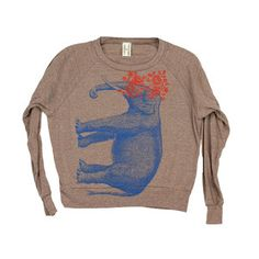 Elephant Pullover Women's Coffee, $28, now featured on Fab.