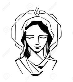 16 mejores imágenes de Virgen María dibujos en 2017