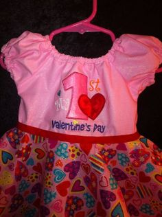 My First Valentines Day Party Dress by ChloizzysCloset on Etsy, $35.00