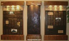 RecognitionArt is the premier provider of donor displays, recognition walls, plaques, signs & more. Start your FREE DESIGN today! Glass Signage, Donor Wall, Corian, Plexus Products, Free Design, Fundraising, Brick, Mosaic, Waterfall Fountain