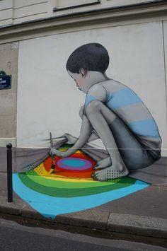 Artist Seth GlobePainter...Paris