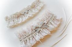 Bethany  Ivory lace vintage style bridal toss by LoveFromMissDarcy, £65.00