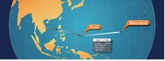 April 12th Guam to Wake  1,501.33 Statute Miles with a Flight Time of 12 hours and 35 minutes