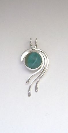 Sea Glass Jewelry Sterling Turquoise Sea Glass by SignetureLine, $80.00