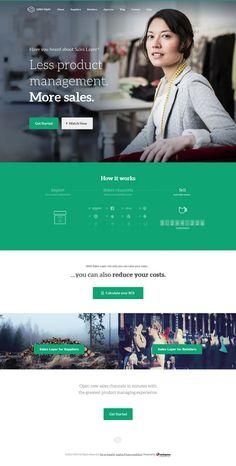 Sales Layer - Flat Design Website