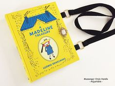 Madeline Leather bound Book Purse  Madeline Collector Gift