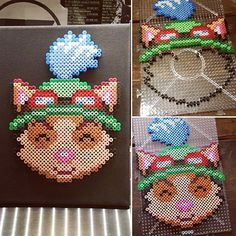 Teemo League of Legends perler beads by missdeeart