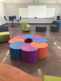 At Tenjam we have been busy making (furniture) and not so busy taking (photo's.)  Here's a recent pic of Tenjam furniture in a school in California.