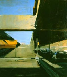 Ben Aronson. Closed Ramp 2010-2014 oil on linen 84 x 74 inches