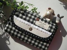 Notebook Case Sachi ハンドメイド 黒母子手帳 通帳カードケース インテリア 雑貨 Handmade ¥700yen 〆11月10日
