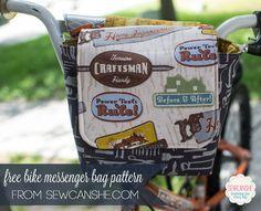 Bike Messenger Bag - Free Sewing Pattern! — SewCanShe | Free Daily Sewing Tutorials