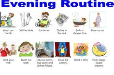 daily routine charts for kids with pictures | The Merry Mummy: Routines