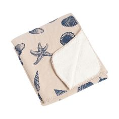 Key Largo Nautical Design with Sherpa Throw Blanket
