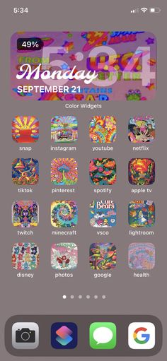 Wallpaper App, Wallpapers, Iphone Layout, Iphone Design, Ios Icon, Aesthetic Indie, Phone Organization, Art Drawings Sketches, Psychedelic Art