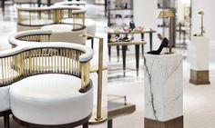 Fenwick of Bond Street - The Shoe Rooms | by Brady Williams | seating | retail design