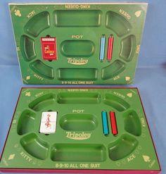 Vintage TRIOPOLY Game Cadaco Copyright 1960 Collectible Board Game