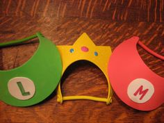 Mario visor Luigi visor Princess Peach crown by LuckyLadyGifts