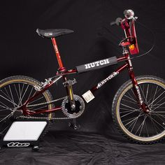 #bmx #oldschoolbmx my Hutch Pro Raider 1985 in candy chrome red. It was one of my oldschool BMX into my collection ! #Padgram