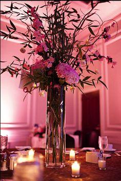 Nice tall vase arrangement