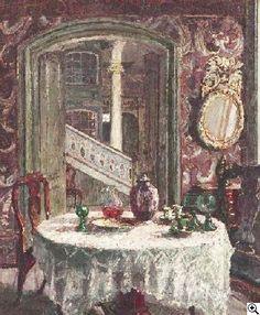 Schnabbelhaus in Lübeck, Gemälde von August von Brandis, German Impressionism